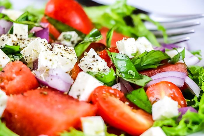 Watermelon & Feta Cheese Salad Recipe