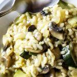 Risotto with Zucchini, Mushroom & Basil Recipe