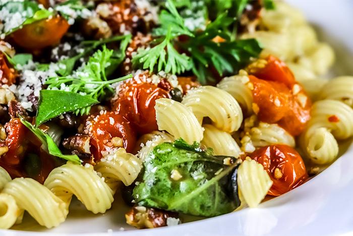 Cavatappi with Tomatoes & Basil