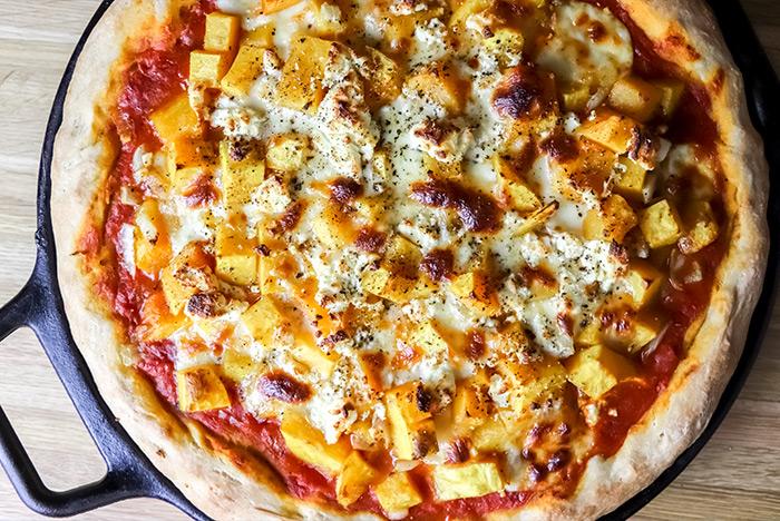 Butternut Squash & Goat Cheese Pizza Recipe