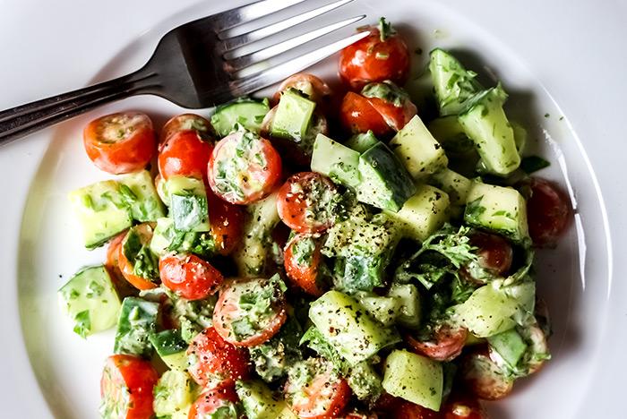 Cucumber, Zucchini & Tomato Salad