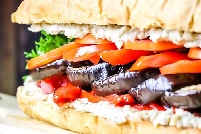 Huge Eggplant Sandwich