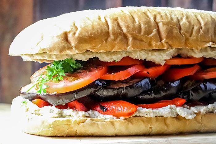 Rustic Italian Eggplant Sandwich Recipe