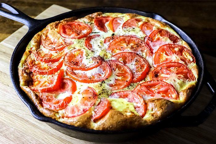 Zucchini, Tomato & Parmesan Cheese Frittata Recipe