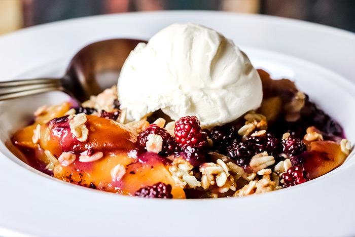 Peach & Blackberry Crisp Dessert Recipe