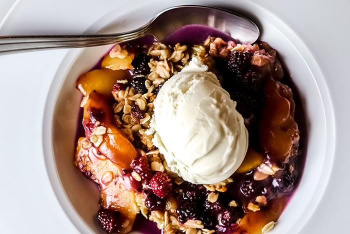 Peach-Blackberry Dessert