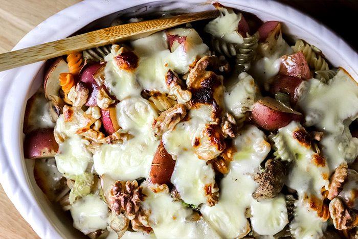 Rustic Potato, Pasta & Mushroom Casserole Recipe