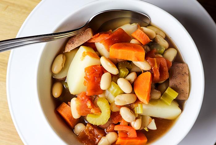Bean, Carrot & Potato Soup