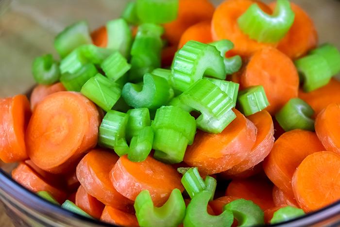 Sliced Carrots & Celery