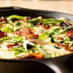 Mozzarella, Basil & Zucchini Frittata Recipe