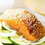 Baked Honey & Ginger Salmon with Zucchini Recipe