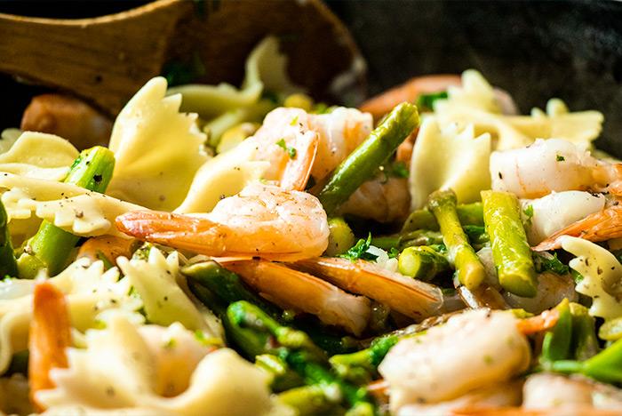 Shrimp Asparagus Dish