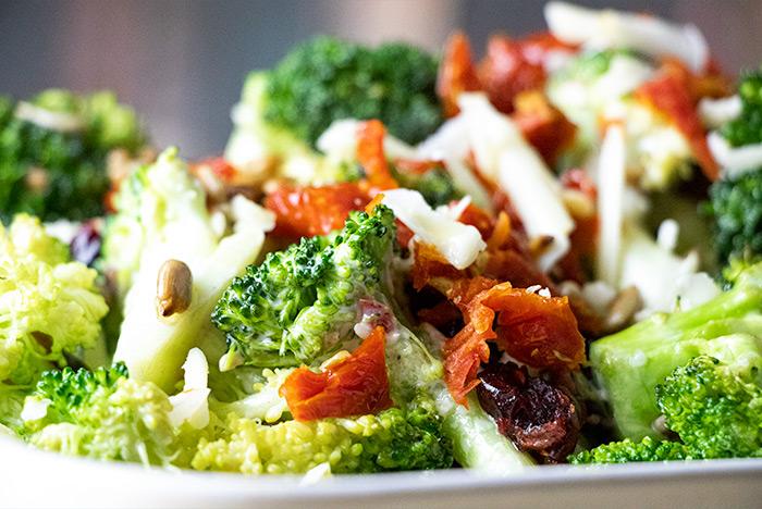 Close-Up Broccoli Salad
