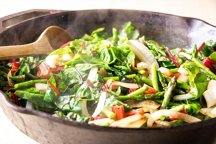 Frying Frittata Vegetables