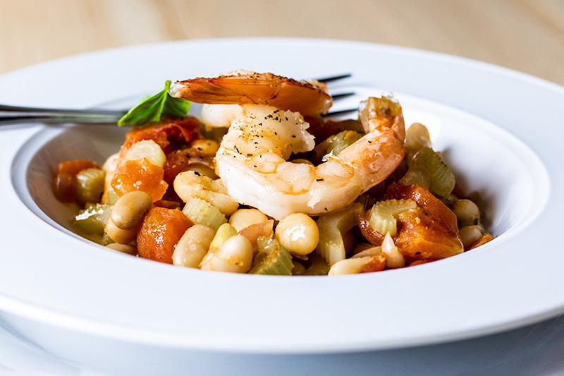 Bean with Shrimp, Garlic & Sage