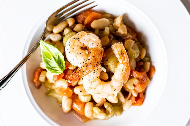 White Bean & Shrimp