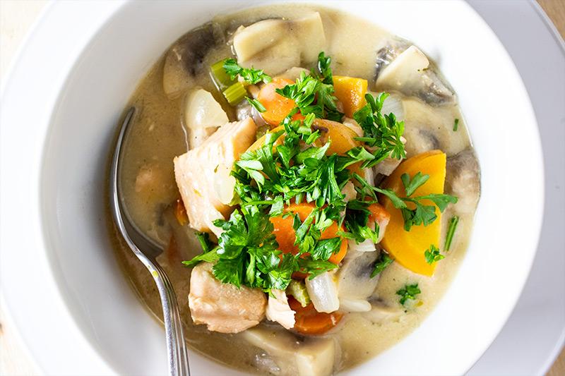 Seafood Salmon Soup Recipe