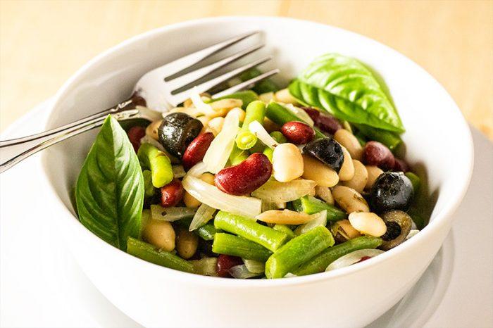 White, Red Bean & Black Olive Salad