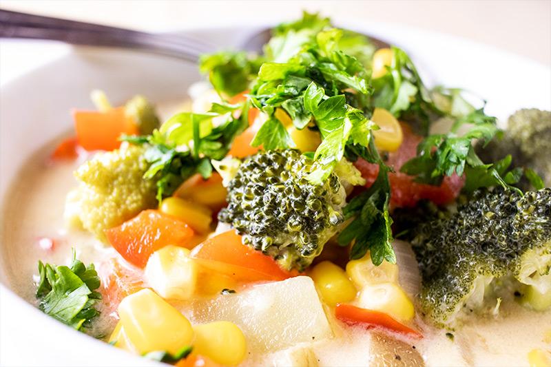 Corn & Broccoli Chowder Soup