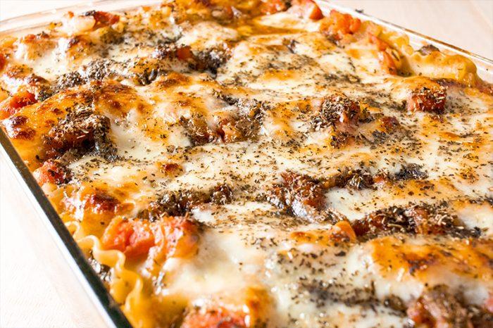 Eggplant, Spinach & Mushroom Lasagna Recipe