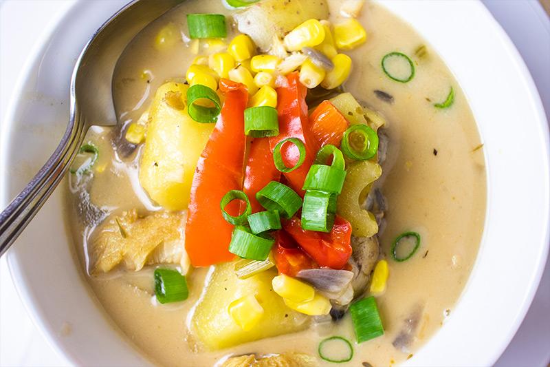 Corn & Cod Chowder Recipe
