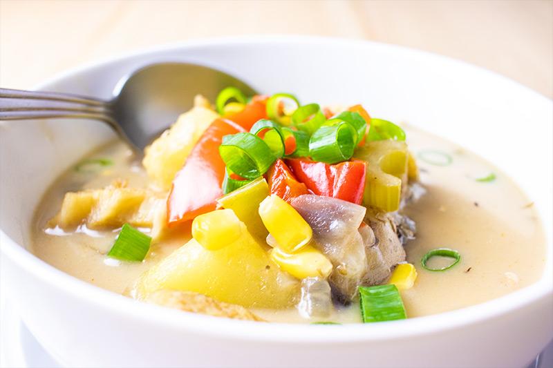 Corn & Cod Fish Chowder Soup