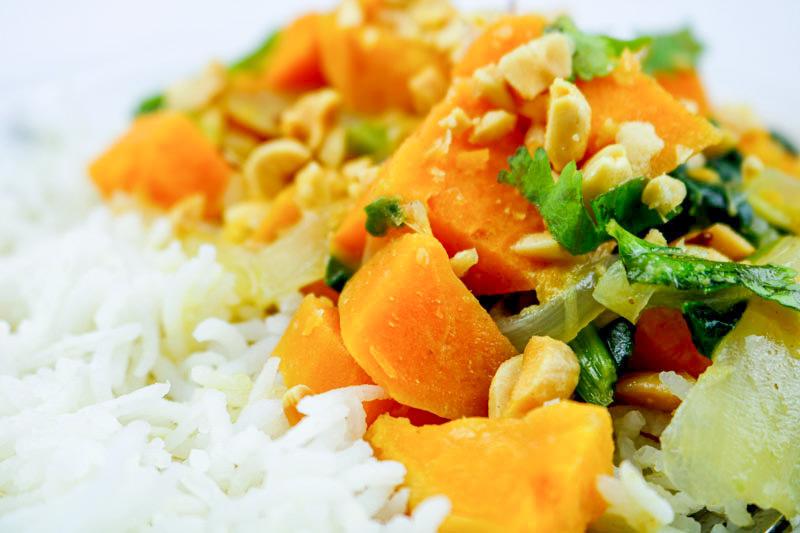 Closeup Of Curry Dish