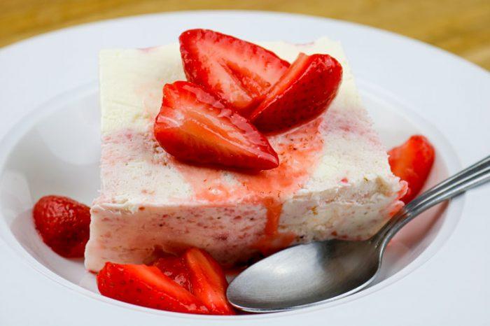 A Slice of Strawberry Dessert