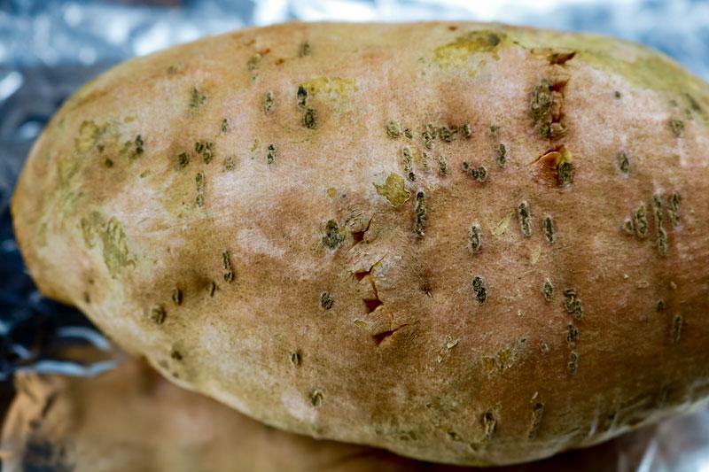 Vented Sweet Potatoes