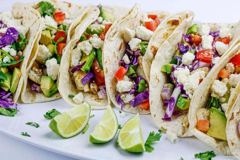 Row Of Fish Tacos 6-20