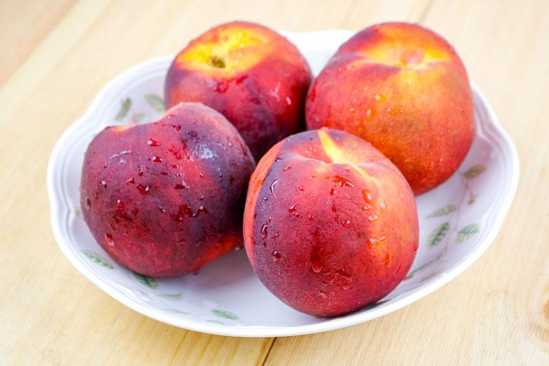 Freshly Washed Peaches-8-19