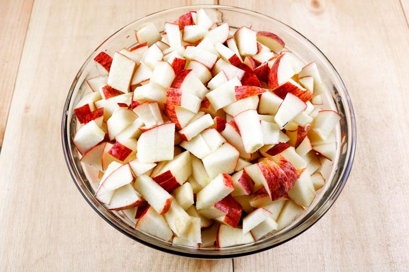 Chopped Apples 9-11